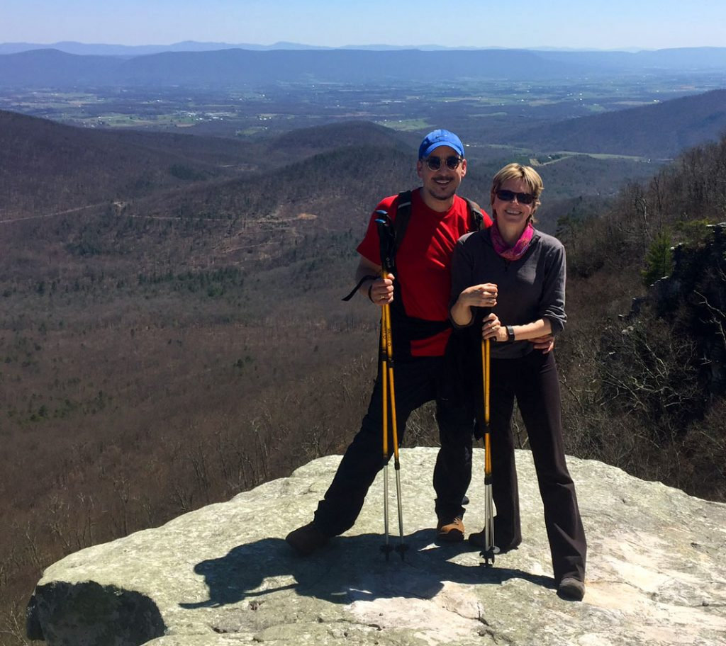 Aldo and Marilyn at a scenic overlook after a hike
